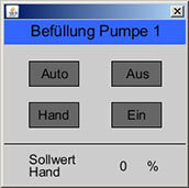 Bedienfenster Pumpe